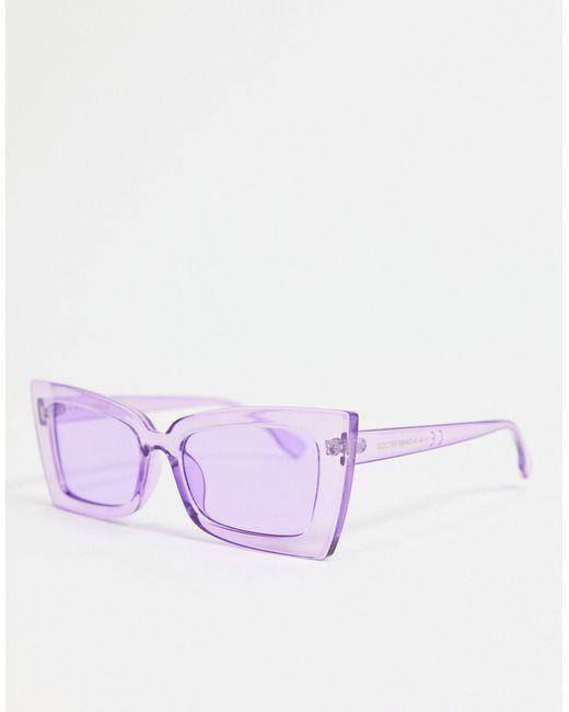 Солнцезащитные Очки В Сиреневой Массивной Оправе «кошачий Глаз» -фиолетовый Цвет South Beach, цвет: Purple