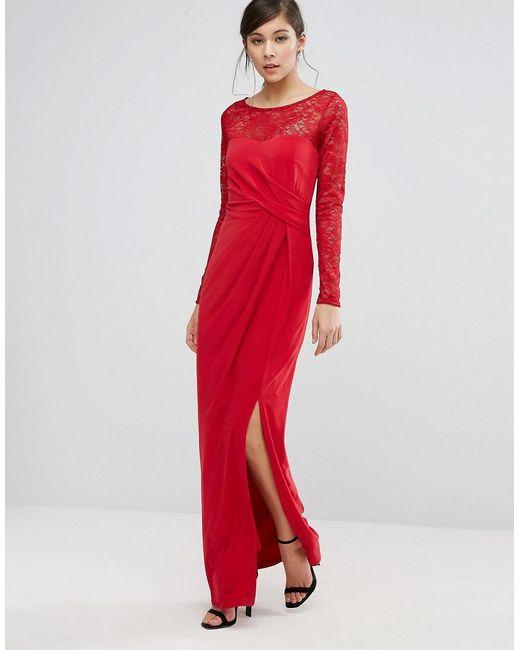 Reeva lace maxi dress