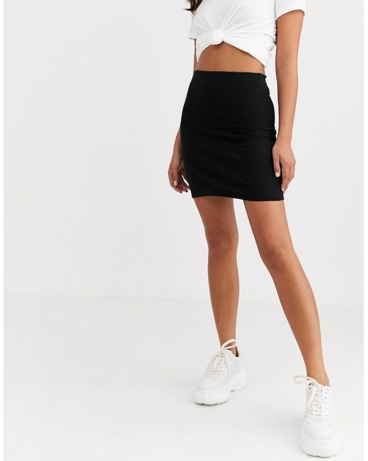 Черная Облегающая Юбка Мини ASOS, цвет: Black