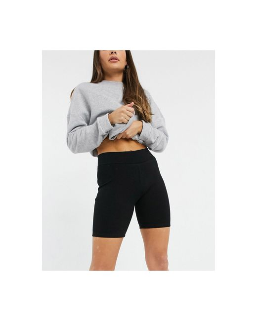 AllSaints Black Cora legging Shorts