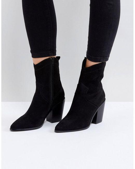 3bf6b87a713 ASOS - Black Asos Eslyn Western Boots - Lyst ...