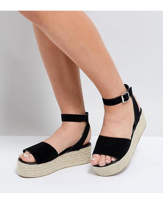 THEAR Wide Fit Espadrille Flatform Sandals original online with paypal 2015 online KblDq