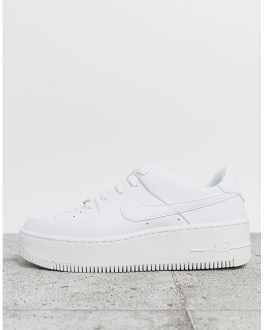 Nike Rubber Air Force 1 Sage Low