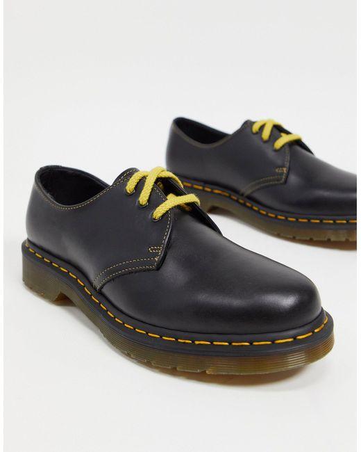 Туфли С 3 Люверсами 1461-серый Dr. Martens для него, цвет: Gray