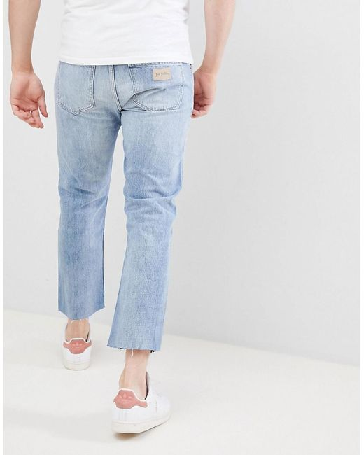5c8c1b3e80954 Just Junkies 90's Fit Cropped Jeans in Blue for Men - Lyst