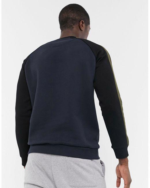 LYLE /& SCOTT CREW-NECK LONG SLEEVE JUMPER FOR MEN/'S IN BLACK IN COLOUR