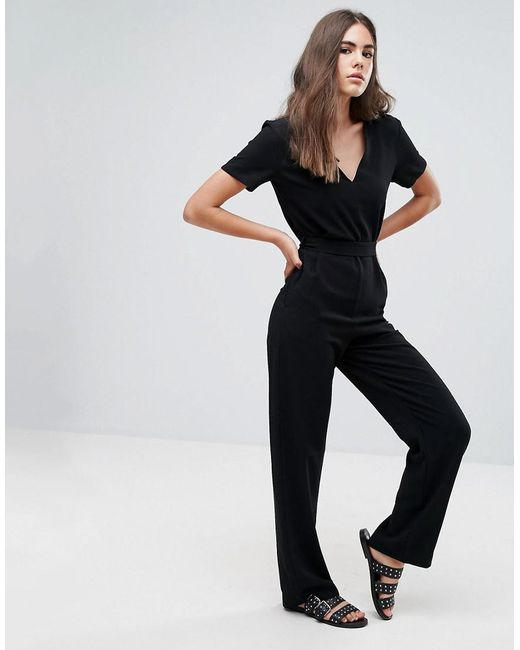 Pepe Jeans | Black Mona Fitted Jumpsuit | Lyst