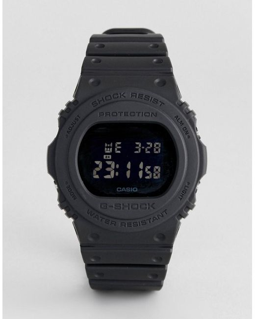 G-Shock - G-shock Dw-5750e-1ber Heritage Digital Silicone Watch In Black for Men - Lyst