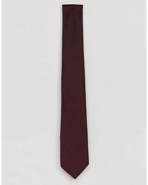 ASOS - Red Design Tie In Burgundy for Men - Lyst