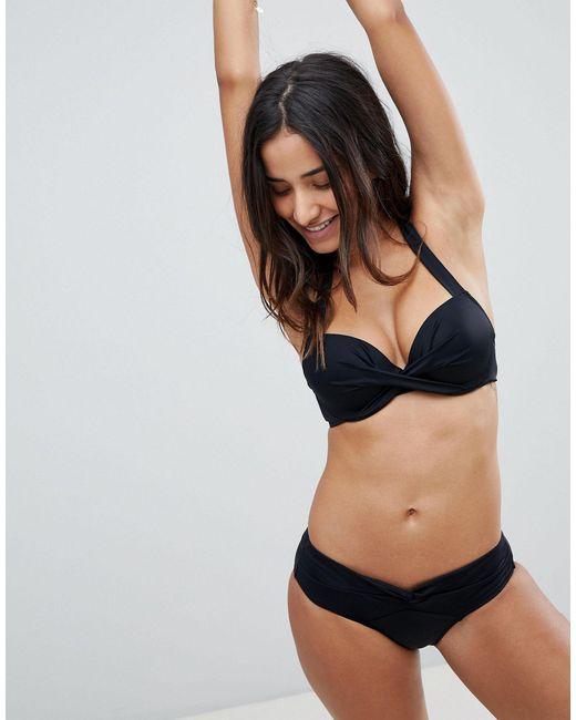 Черные Короткие Плавки Бикини -черный DORINA, цвет: Black