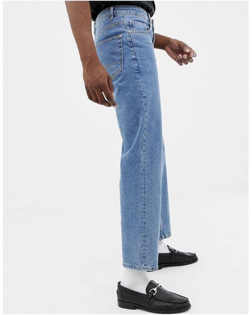 ASOS – Jeans mit hoher Taille in Blue für Herren