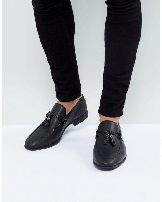 ASOS Denim Loafers in Black for Men - Lyst