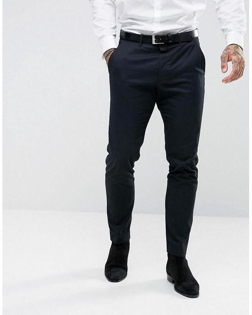 AllSaints - Blue Slim Fit Suit Pant for Men - Lyst