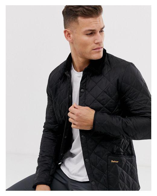 Черная Стеганая Куртка -черный Цвет Barbour для него, цвет: Black