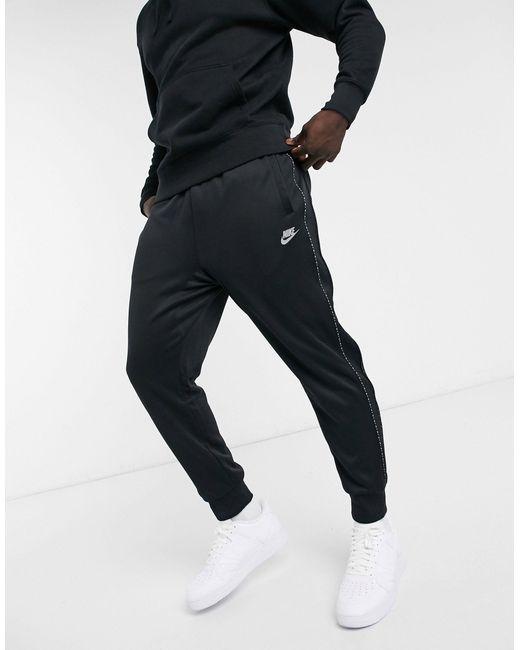 Черные Джоггеры С Манжетами И Отделкой Фирменной Лентой Repeat Pack-черный Цвет Nike для него, цвет: Black
