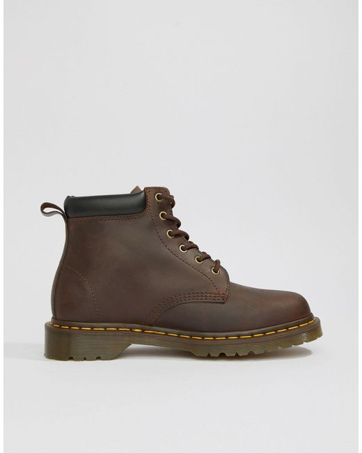 Коричневые Ботинки С 6 Парами Люверсов 939-коричневый Dr. Martens для него, цвет: Brown