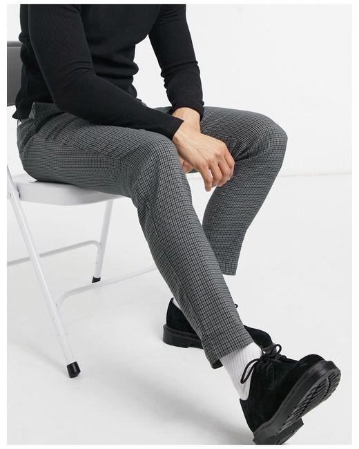 Pantaloni con motivo pied di Only & Sons in Gray da Uomo