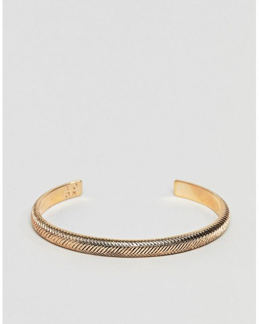 Icon Brand - Metallic Antique Gold Cuff for Men - Lyst