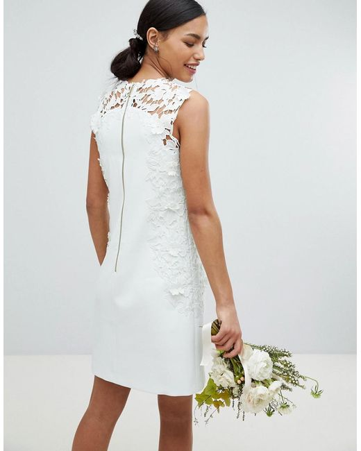 Tie The Knot Tunic Bridesmaid Dress With Applique Lace