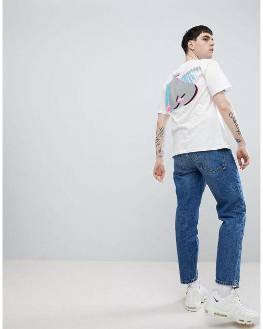 T-shirt avec imprimé dans le dos Money pour homme en coloris White