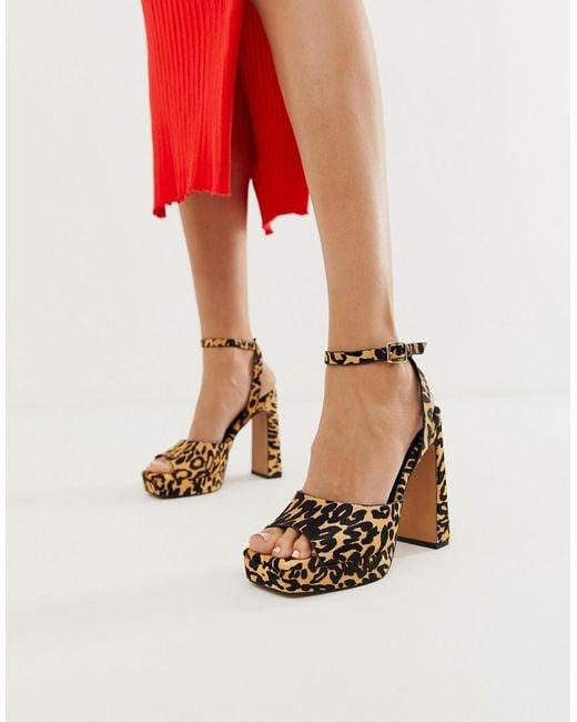 23ace2082b4 Women's Habitat Leather Platform Block Heeled Sandals In Leopard