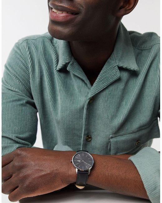 Часы С Кожаным Ремешком Moon-черный Lacoste для него, цвет: Black