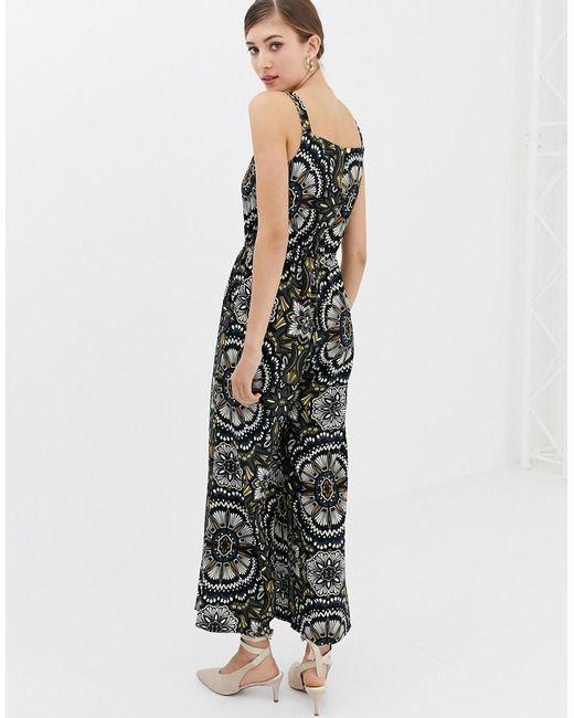c78b90d1179 ... Closet - Black Closet Multi Floral Wide Leg Jumpsuit - Lyst