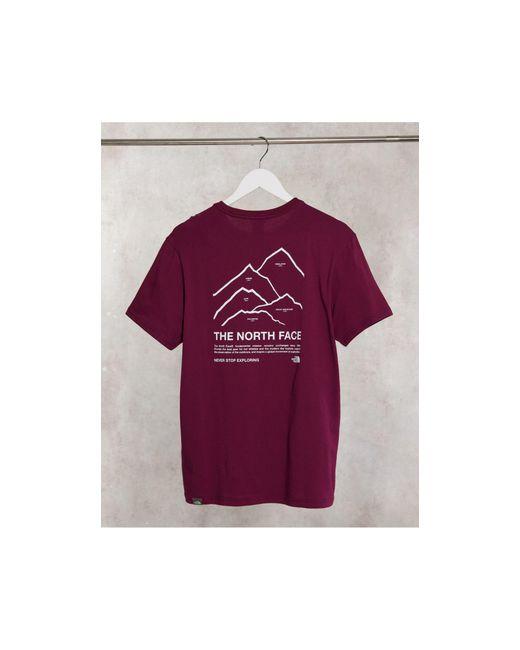 Красная Футболка Peaks Эксклюзивно Для Asos-красный The North Face для него, цвет: Red