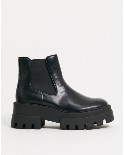 Черные Ботинки Челси На Платформе -черный Цвет Pull&Bear, цвет: Black