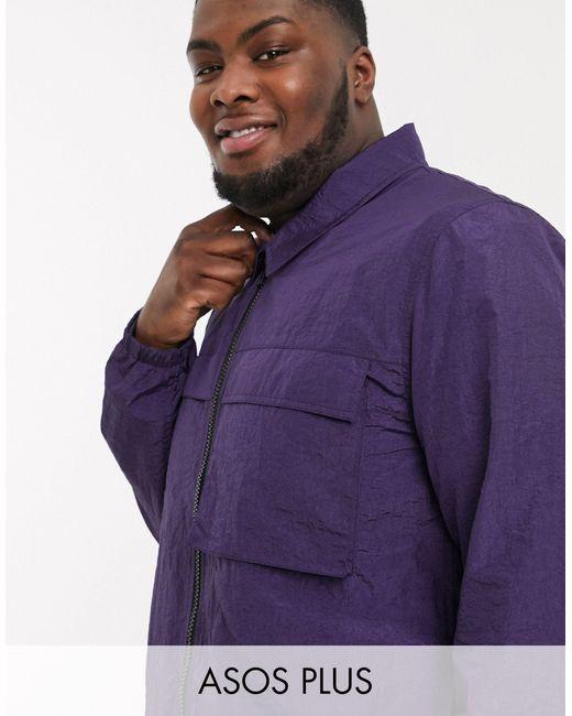 Cortavientos con capucha en violeta ASOS de hombre de color Purple
