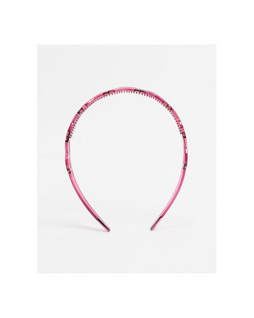 """Ободок На Голову С Дизайном """"сердечки"""" ASOS, цвет: Pink"""