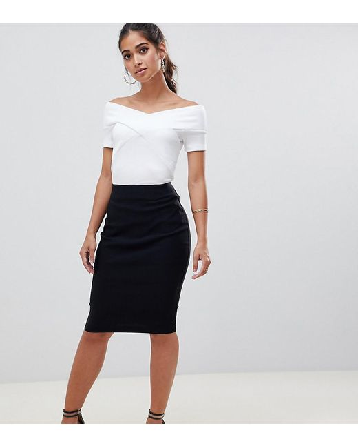 274694ea4e3dd ASOS - Black Asos Design Petite High Waisted Pencil Skirt - Lyst ...