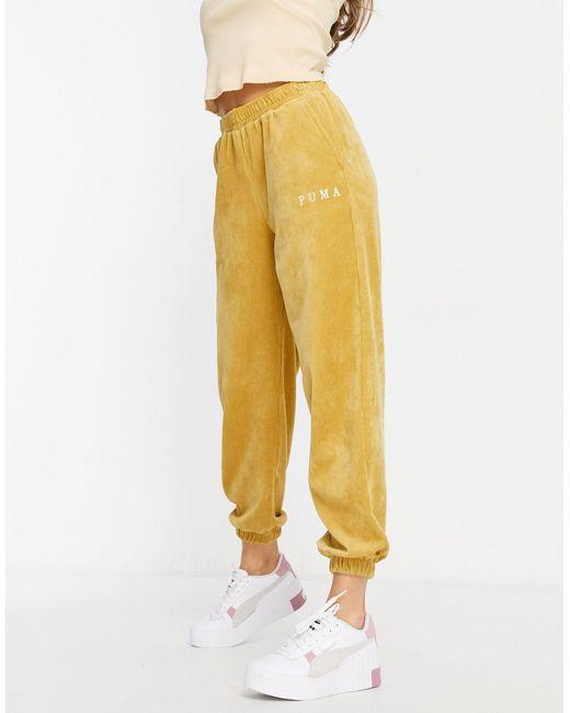 Горчичные Вельветовые Джоггеры -желтый PUMA, цвет: Yellow