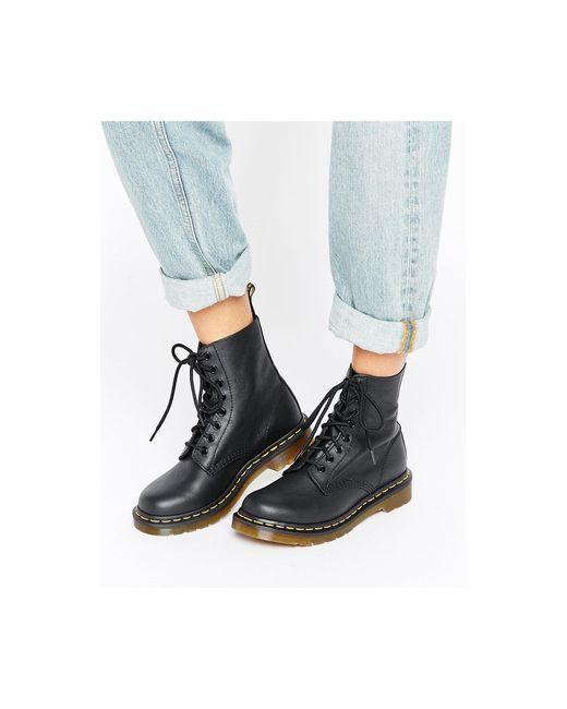 Черные Ботинки С 8 Парами Люверсов 1460-черный Dr. Martens, цвет: Black
