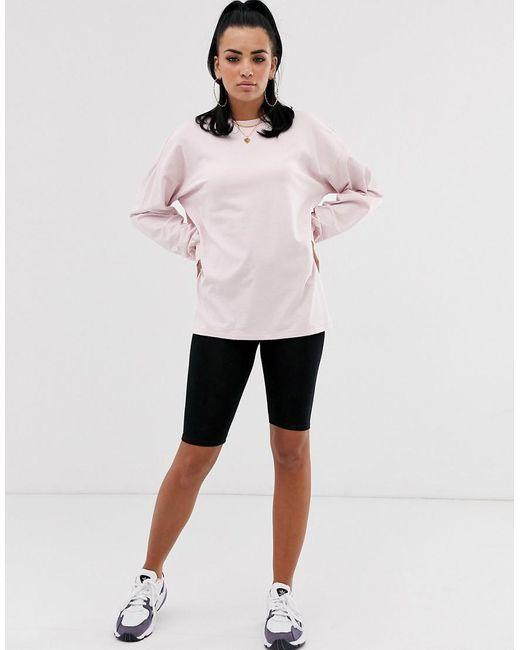 ASOS Lichtgewicht Oversized Sweater In Lila in het Pink