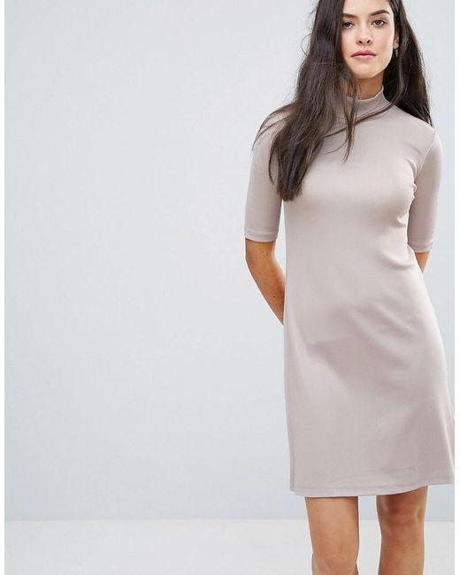 Y.A.S - Pink Sheila High Neck Glossy Dress - Lyst