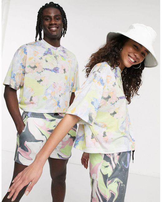 ASOS Multicolor X glaad& – Kurz geschnittenes, geblümtes Unisex-T-Shirt, Kombiteil