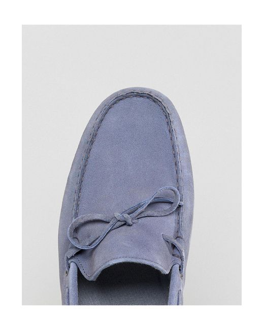 ASOS Suede Wide Fit Driving Shoes in