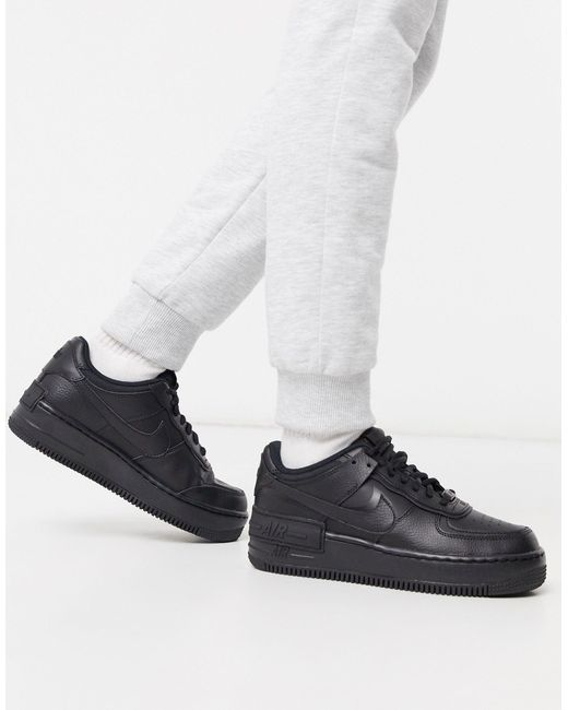 Nike Black Air Force 1 High 08 Le Shoe