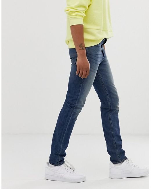 15997942bcc ... Levi's - Blue 510 Skinny Fit Standard Rise Jeans In Thresher Warp Cool  Mid Wash for
