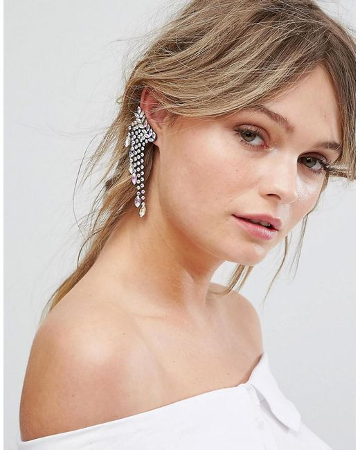 New Look   Multicolor Disco Jewelled Ear Cuffs   Lyst