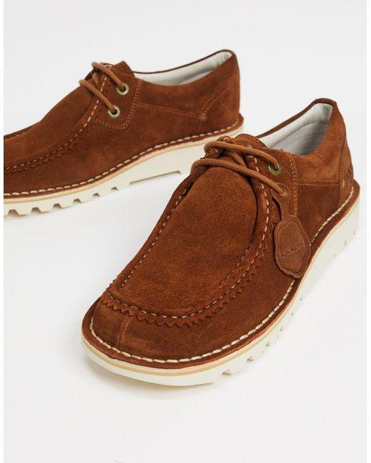 Светло-коричневые Замшевые Туфли Дерби В Стиле Casual Kick Wall Lo-коричневый Kickers для него, цвет: Brown