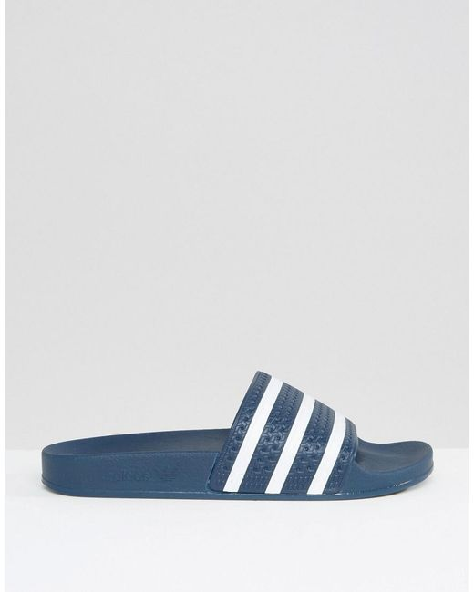 0572b5dae ... Adidas Originals - Blue Adilette Slider Flip Flops 288022 for Men - Lyst