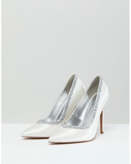 6452bfe06d ... ASOS - Multicolor Wide Fit Phoenix Bridal High Heeled Pumps In Ivory -  Lyst