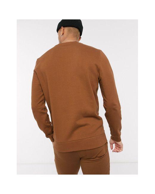Sudadera extragrande con detalle utilitario ASOS de hombre de color Brown