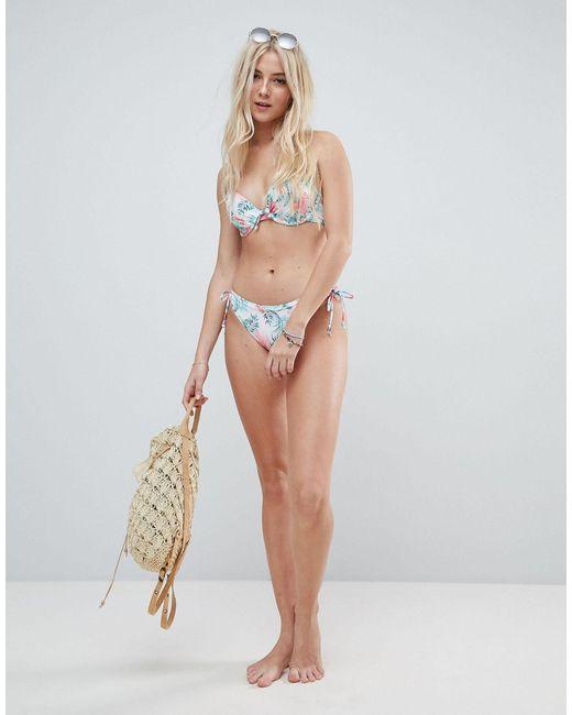 DORINA Multicolor Floral Push Up Bikini Top