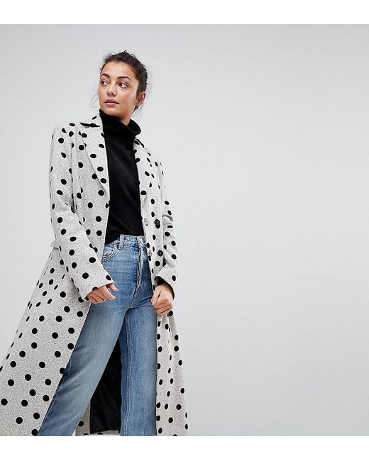 ASOS - Multicolor Spot Coat - Lyst