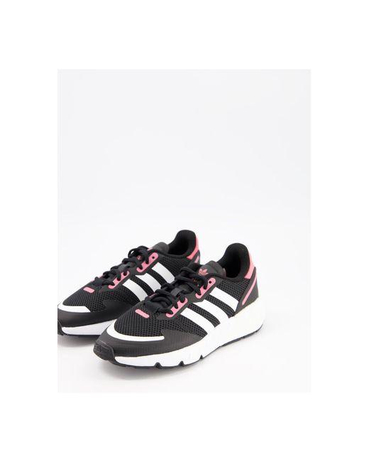 Черные Кроссовки С Розовыми Вставками Zx 1k Boost-черный Цвет Adidas Originals, цвет: Black