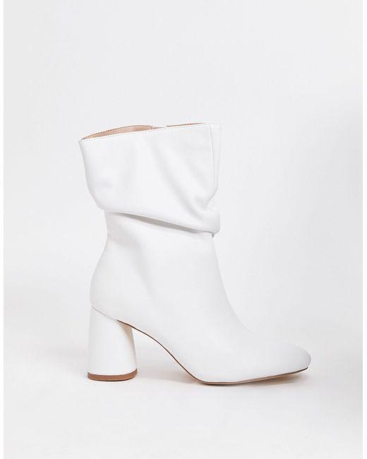 Белые Сапоги С Голенищем-гармошкой Marshmallow-белый Public Desire, цвет: White