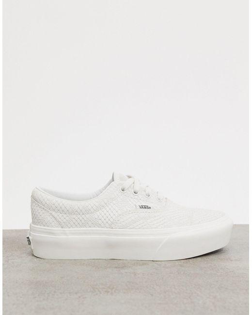 Белые Кроссовки На Платформе Со Звериным Принтом Era-белый Vans, цвет: White